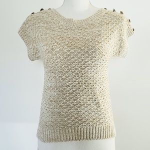 Anthro Between Me & You Cream Sweater Medium